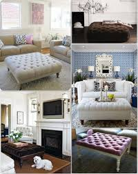 coffee table exciting living room design with sofa and tufted