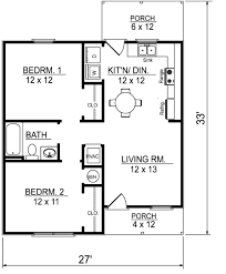 Floor Plans For Ranch Style Homes by Ranch Style House Plan 2 Beds 1 00 Baths 736 Sq Ft Plan 14 237