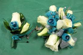 turquoise corsage corsages bock s floral creations