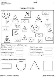happy shapes worksheet