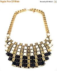gold statement necklace jewelry images Black gold bib necklace gold statement necklace chunky jpg