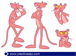 pink panther vector u2013 creative alys