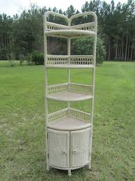 Wicker Shelving Bathroom Lovely Shabby Chic Wicker Corner Shelf Cabinet This Is A