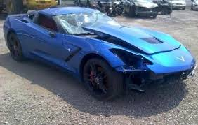buy a corvette stingray wrecked c7 corvette selling for 20 000 gm authority