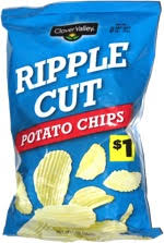 ripples chips clover valley ripple cut potato chips