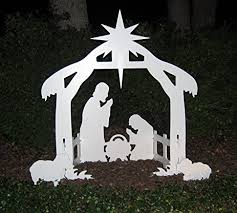 teak isle outdoor nativity set yard
