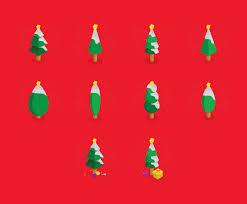 cartoon christmas tree isometric icon set vector art u0026 graphics