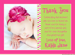 mod baby shower baby girl thank you cards polka dots photo pink