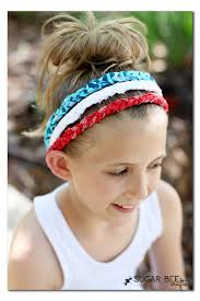 white and blue headband white blue braided headbands no sew sugar bee crafts
