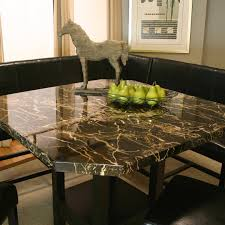 square clipped corner pub table w faux marble top by cramco inc