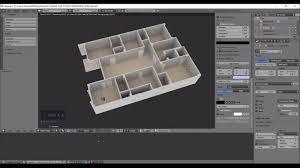 Cad Floor Plan Blender Timelapse Creating A 3d Floorplan From 2d Cad Image