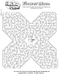 free mazes printable flower maze free coloring pages kids