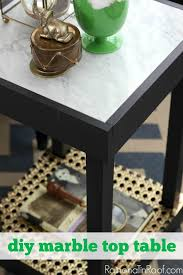 diy marble top table for 30 or less