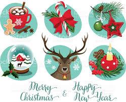 christmas symbols and decorations stock vector art 626002460 istock