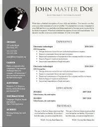 resume templates free download doc resume sample