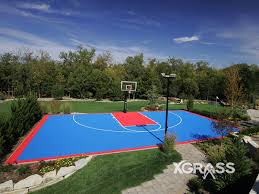 Backyard Basketball Court Atlanta Synthetic Turf Mulch And Bonded Rubber Playground Surface
