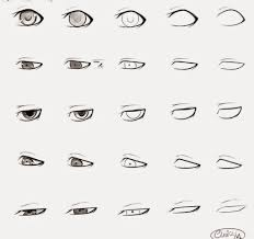 easy anime drawings step by step how to draw anime male eyes