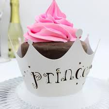 laser cut princess baby shower cupcake wrappers party pearl paper