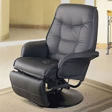 leatherette cushion recliner in black recliners