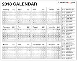Printable Halloween Calendar Blank 2018 Calendar With Holidays Printable Pdf Template To Print
