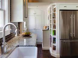 refrigerator kitchen cabinet fancy smal white wooden kitchen cabinet with hiden cabinet