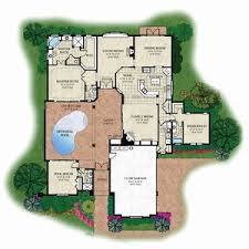 courtyard house plans house plan with courtyard mediterranean plans small floor ranch pool