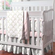 Mini Crib Vs Bassinet Furniture Pink And Taupe Damask Bassinet Vs Crib With Carousel