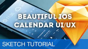 sketch 3 tutorial u2022 beautiful ios calendar ui ux u2022 sketchapp