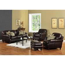 Top Grain Leather Living Room Set Wayport 4 Top Grain Leather Living Room Set With Recliner