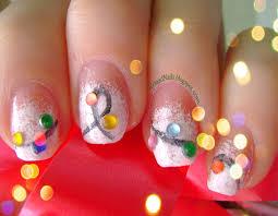 nail art christmas lights and snowman youtube christmas light