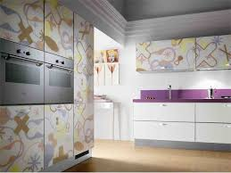 Contemporary Kitchen Cabinet Doors Art Deco Style Kitchen With Custom Painting Kitchen Cabinets