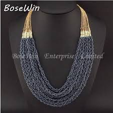multi layer beaded necklace images Handmade 7 strand twist multi layer seed bead necklace make dem jpg