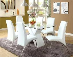 glass dining room table and chairs white modern dining table set dining room stunning white glass