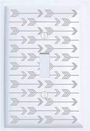 arrow of light decorations amazon com single toggle grey arrow print light switch plate covers