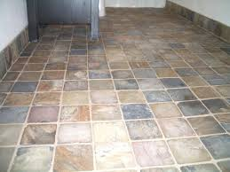 slate tile bathroom floor