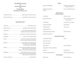 catholic mass wedding programs catholic wedding ceremony program template without mass