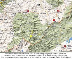 Map Of Western North Carolina The Black Mountains And Mt Mitchell In North Carolina Cloudman23