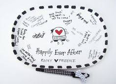 signable wedding platters skip the guest book make a great signature platter craft time