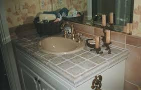 bathroom vanity tile ideas beautiful tiled bathroom vanity tops 2 3791 home design ideas