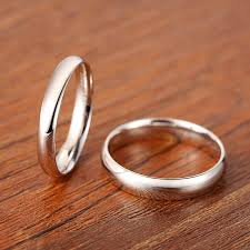 simple wedding bands for domed polished wedding band for women or men personalized