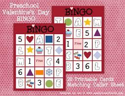 valentines bingo a daily dose of davis s day bingo for preschoolers