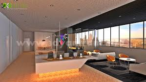 modern office interior rendering design delhi india 3d interior