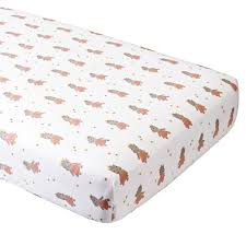 organic royal hippo crib fitted sheet the land of nod