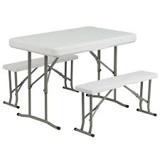 Plastic Folding Picnic Table Plastic Folding Table And Benches