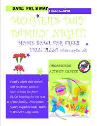 mother u0027s day family night u2013 may 8 uscg base cape cod mwr