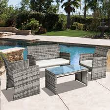 Best Wicker Patio Furniture Best Choice Products Outdoor Patio Furniture Cushioned 4 Piece