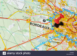 Bordeaux France Map by Bordeaux France On Map Stock Photo Royalty Free Image 50747398