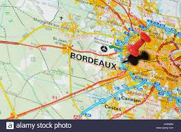 Bordeaux France Map Bordeaux France On Map Stock Photo Royalty Free Image 50747398