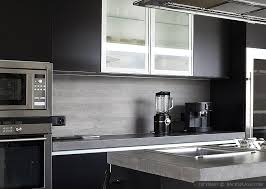 MODERN KITCHEN Backsplash Ideas Black Gray Tiles - Modern kitchen backsplash