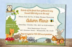 Church Baby Shower - woodland themed baby shower invitations woodland themed baby